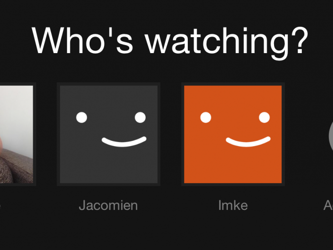 Netflix account switcher.